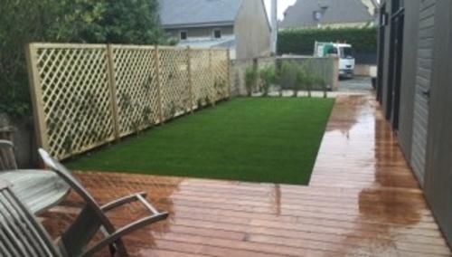 Installation d''une clôture et d''un espace végétalisé - (22)