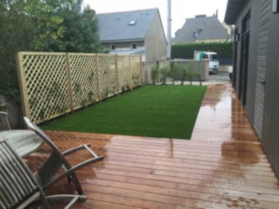 Installation d''une clôture et d''un espace végétalisé - (22) 0