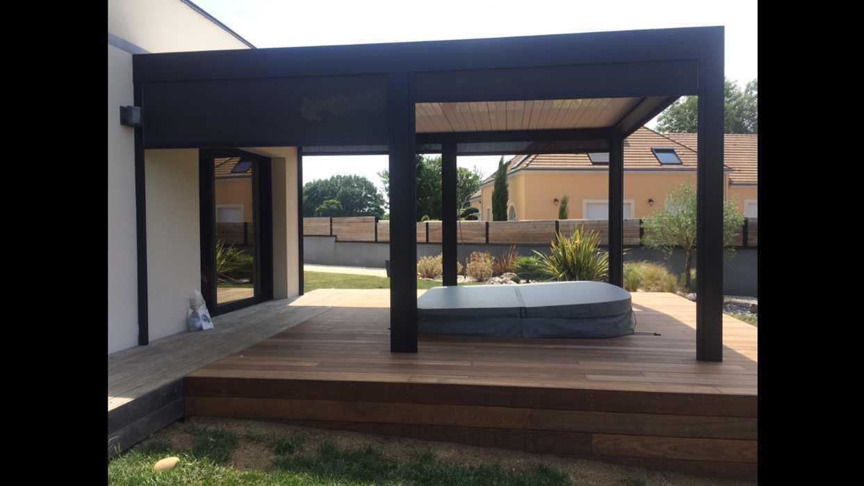 Aménagement d''espaces détente sur terrasse - (72) 7