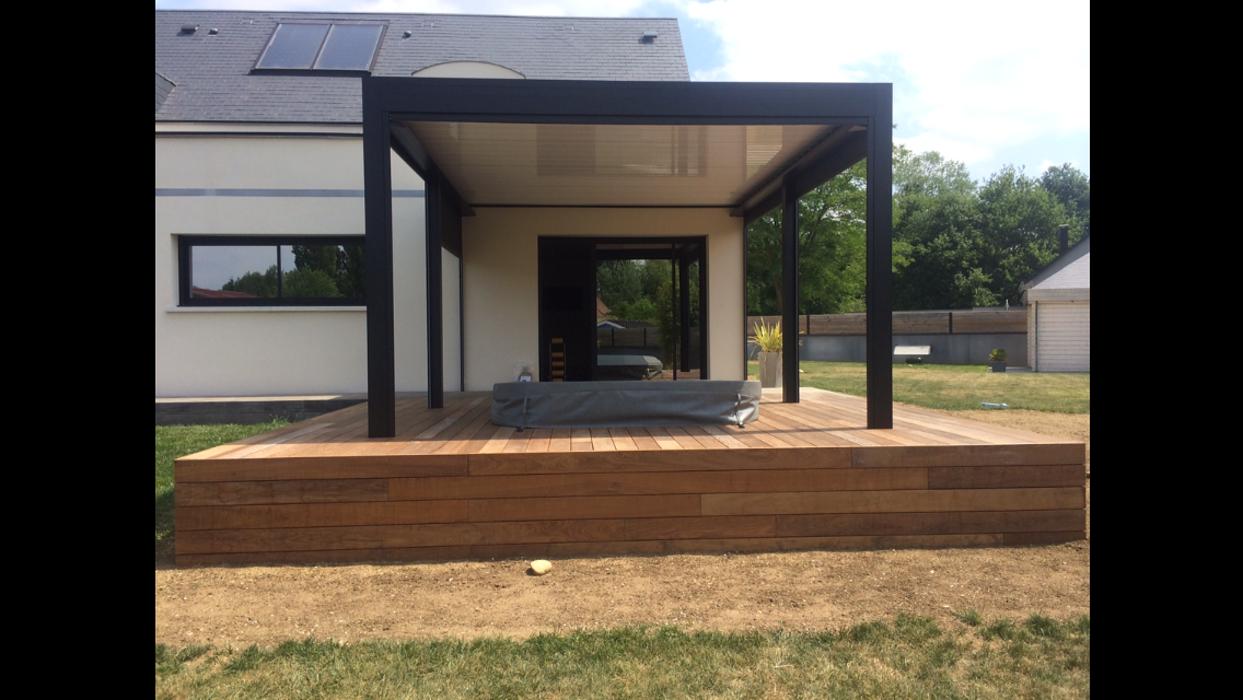 Aménagement d''espaces détente sur terrasse - (72) 0